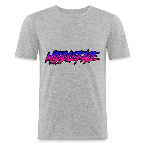 Middleface Logo - Blue and Pink - Men's Slim Fit T-Shirt
