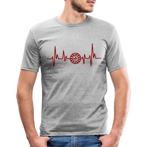 RT-Hearbeat - Männer Slim Fit T-Shirt