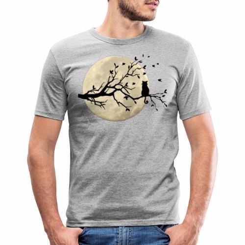 LA LUNA E IL GATTO/THE CAT AND MOON/ - Maglietta aderente da uomo