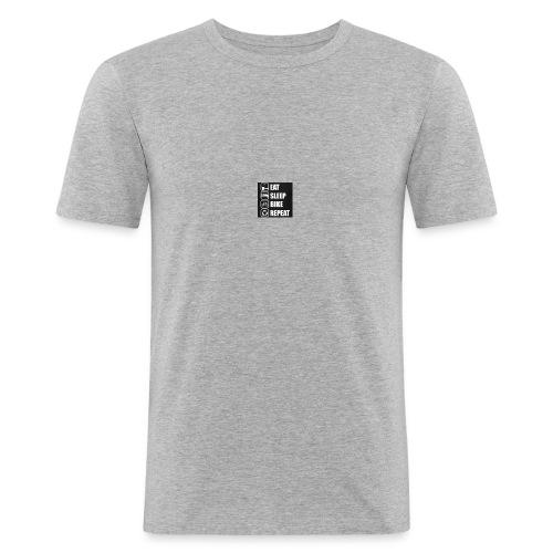 eat sleep bike repeat - T-shirt près du corps Homme