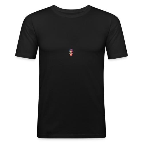 universe-space-galaxy-skull - Miesten tyköistuva t-paita