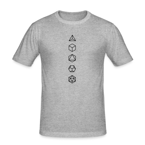 Platonische Körper Bausteine des Lebens Elemente - Männer Slim Fit T-Shirt