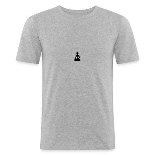 buddha_new - Mannen slim fit T-shirt