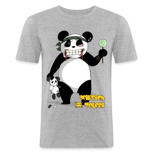 panda004 shirt gelb png - Männer Slim Fit T-Shirt