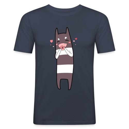 Donut Monster - Men's Slim Fit T-Shirt