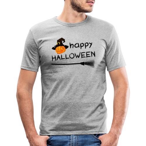 Happy halloween - Mannen slim fit T-shirt