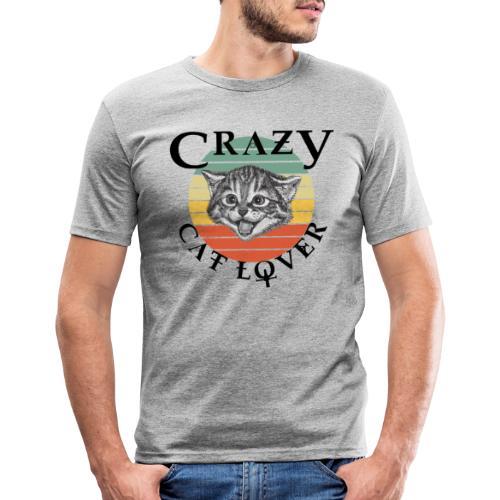 Crazy cat lover - Mannen slim fit T-shirt