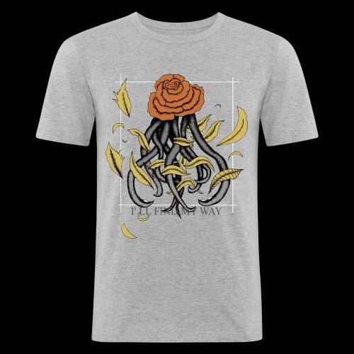 Rose octopus - T-shirt près du corps Homme