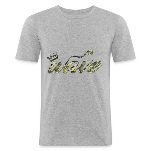 Camo Curvy Wave Clothing - Men's Slim Fit T-Shirt
