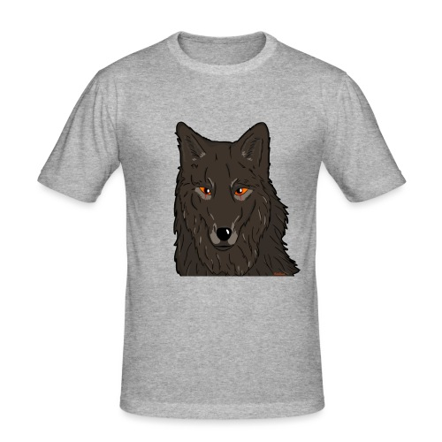 HikingMantis Wolf png - Herre Slim Fit T-Shirt