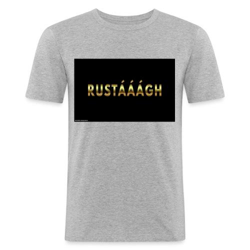 rustaaagh - Mannen slim fit T-shirt