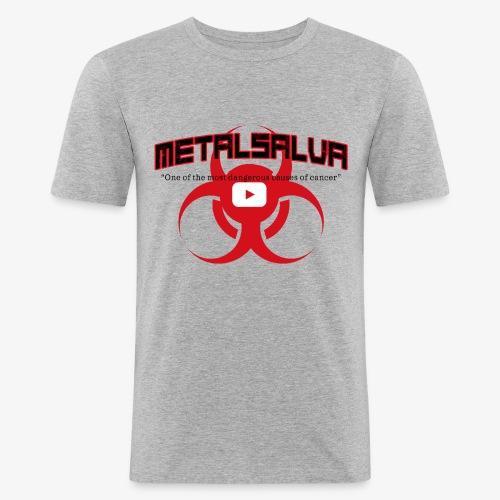 METALSALVA Cancer #1 - Maglietta aderente da uomo