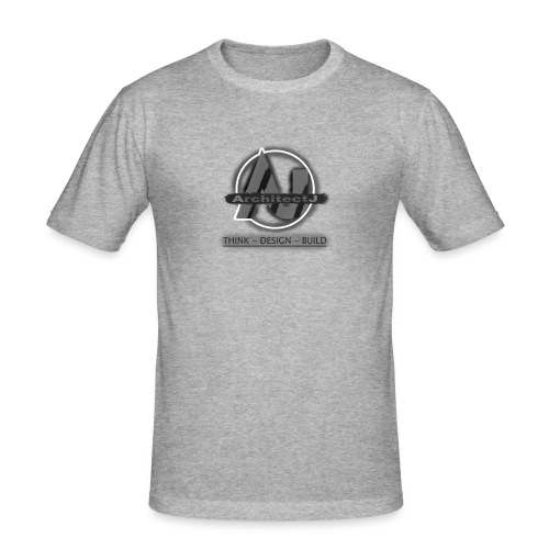 ArchitectJ_Logo_with_Slogan_-transparent_backgroun - Mannen slim fit T-shirt