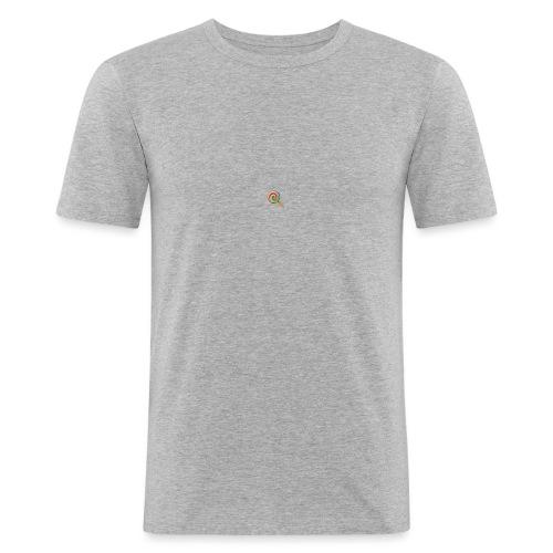 lolly_emoji - Mannen slim fit T-shirt