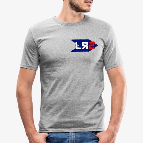 LR2 Logo Only - Men's Slim Fit T-Shirt