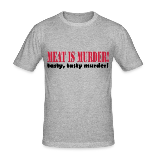 Meat is murder - Men's Slim Fit T-Shirt