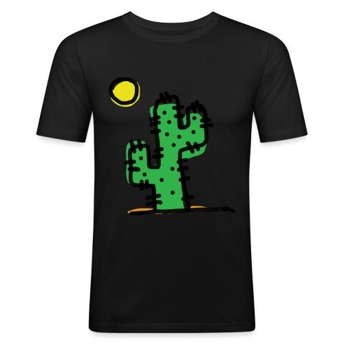 Cactus single - Maglietta aderente da uomo