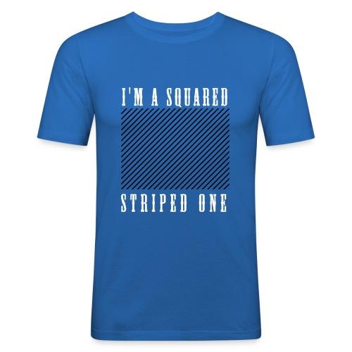 striped squared - T-shirt près du corps Homme