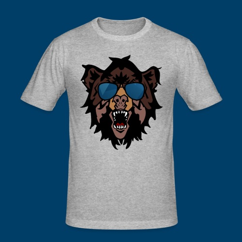 The Grizzly Beast - Men's Slim Fit T-Shirt