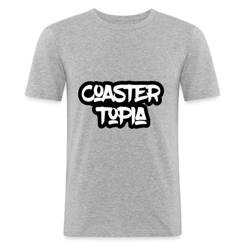 Coastertopia Logo - Mannen slim fit T-shirt