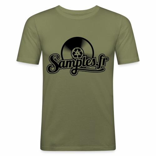 Gris / Noir (H / F) - T-shirt près du corps Homme
