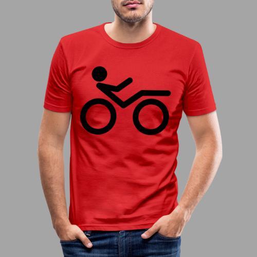 Recumbent bike black 2 - Miesten tyköistuva t-paita