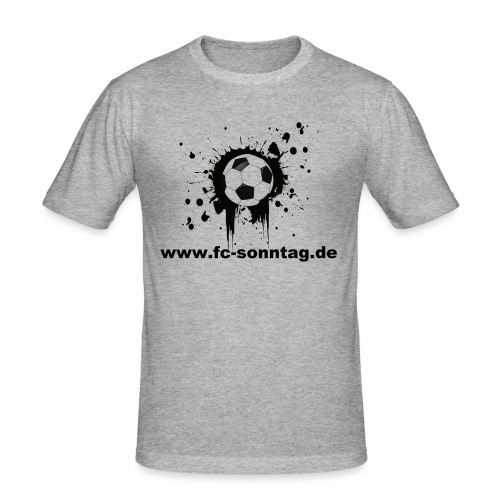 FC Sonntag Ball - Männer Slim Fit T-Shirt