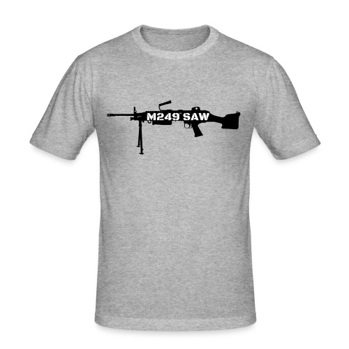 M249 SAW light machinegun design - Mannen slim fit T-shirt