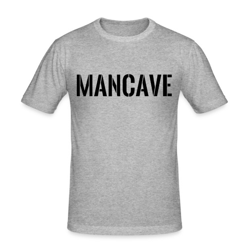 Man Cave Stencil - Slim Fit T-shirt herr
