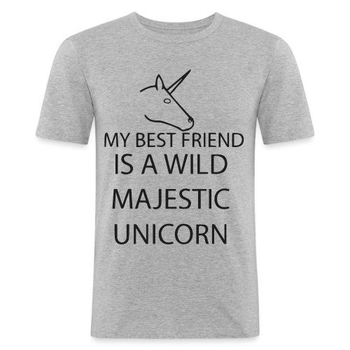 SPRUCH  BEST FRIEND  - Männer Slim Fit T-Shirt