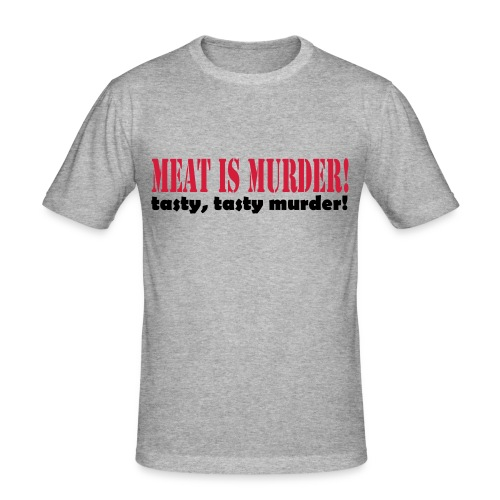 Meat is murder - Men's Slim Fit T-Shirt