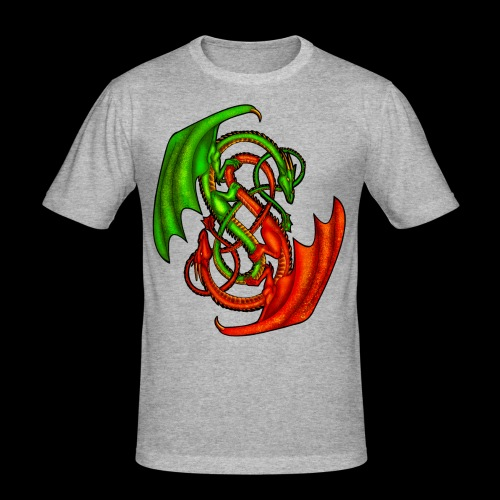 Entwined Dragons - Men's Slim Fit T-Shirt