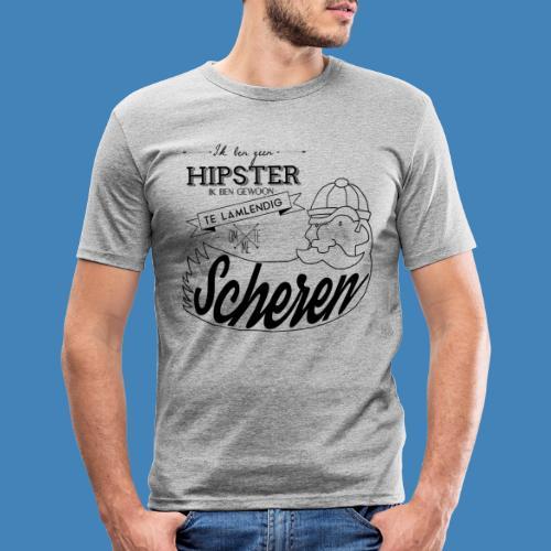 Ik ben geen hipster - Mannen slim fit T-shirt