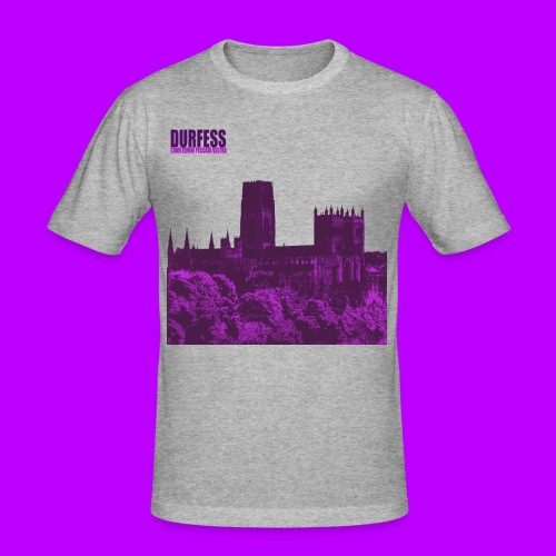 Square Durfess Logo - Cathedral Only - Men's Slim Fit T-Shirt