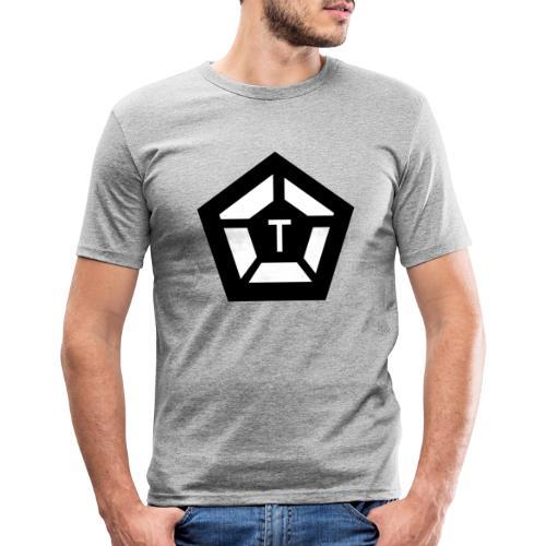 Tim Pentagon Logotyp - Slim Fit T-shirt herr