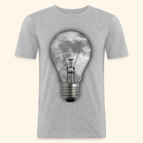 moon bulb - Camiseta ajustada hombre