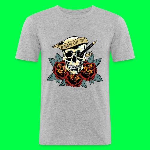 draw or die - T-shirt près du corps Homme