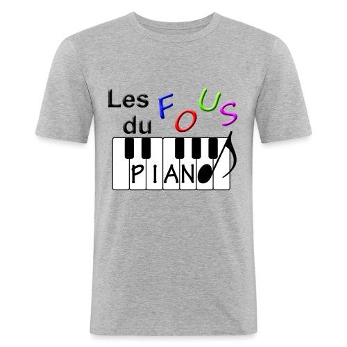 Logo Fous du piano 3 - T-shirt près du corps Homme