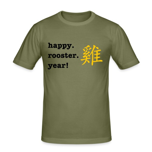 happy rooster year - Men's Slim Fit T-Shirt