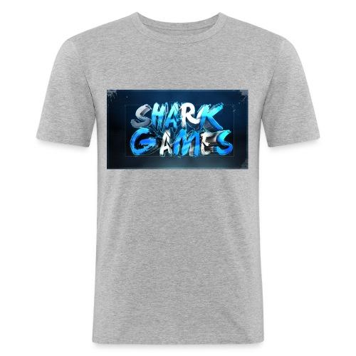 SharkGames - Maglietta aderente da uomo