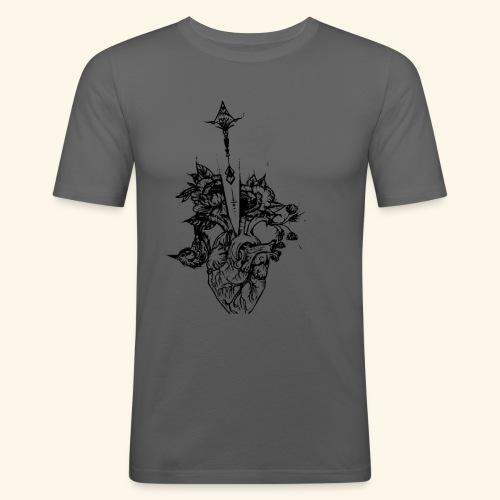 la nature du coeur - T-shirt près du corps Homme
