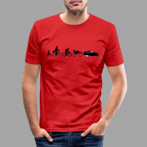 Bicycle evolution black - Miesten tyköistuva t-paita