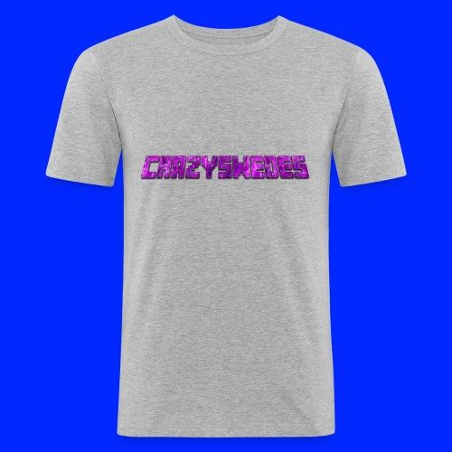CrazySwedes PurpleThunder - Slim Fit T-shirt herr