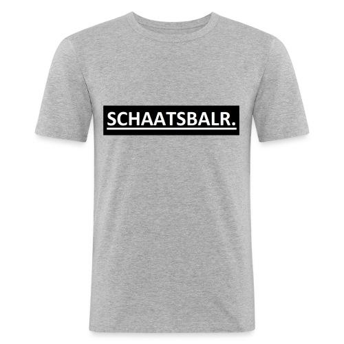 Schaatsbalr. - Mannen slim fit T-shirt
