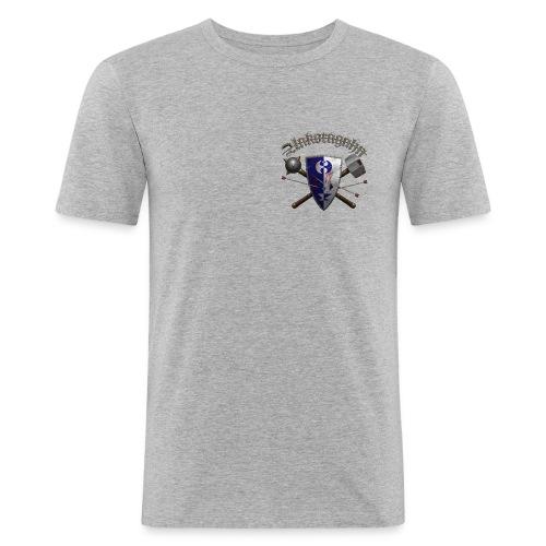 Ankoragahnwappen mit Schriftzug - Männer Slim Fit T-Shirt