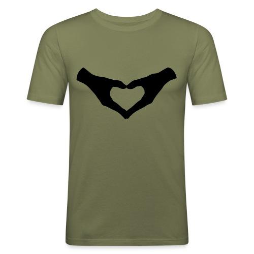 Herz Hände / Hand Heart 2 - Männer Slim Fit T-Shirt