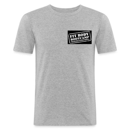 fitbodybootcamp black and white logo - Men's Slim Fit T-Shirt