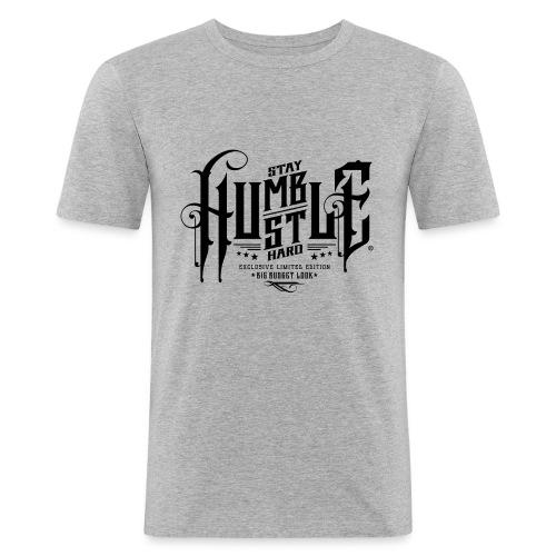 Hustle black - Männer Slim Fit T-Shirt
