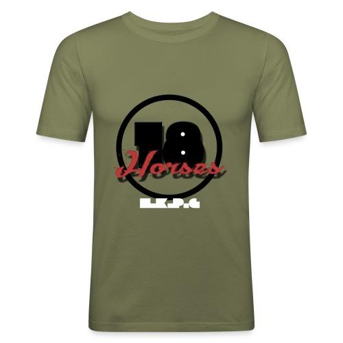 18 Horses - NKPG (White) - Slim Fit T-shirt herr