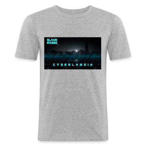 Cyberlandia - Maglietta aderente da uomo